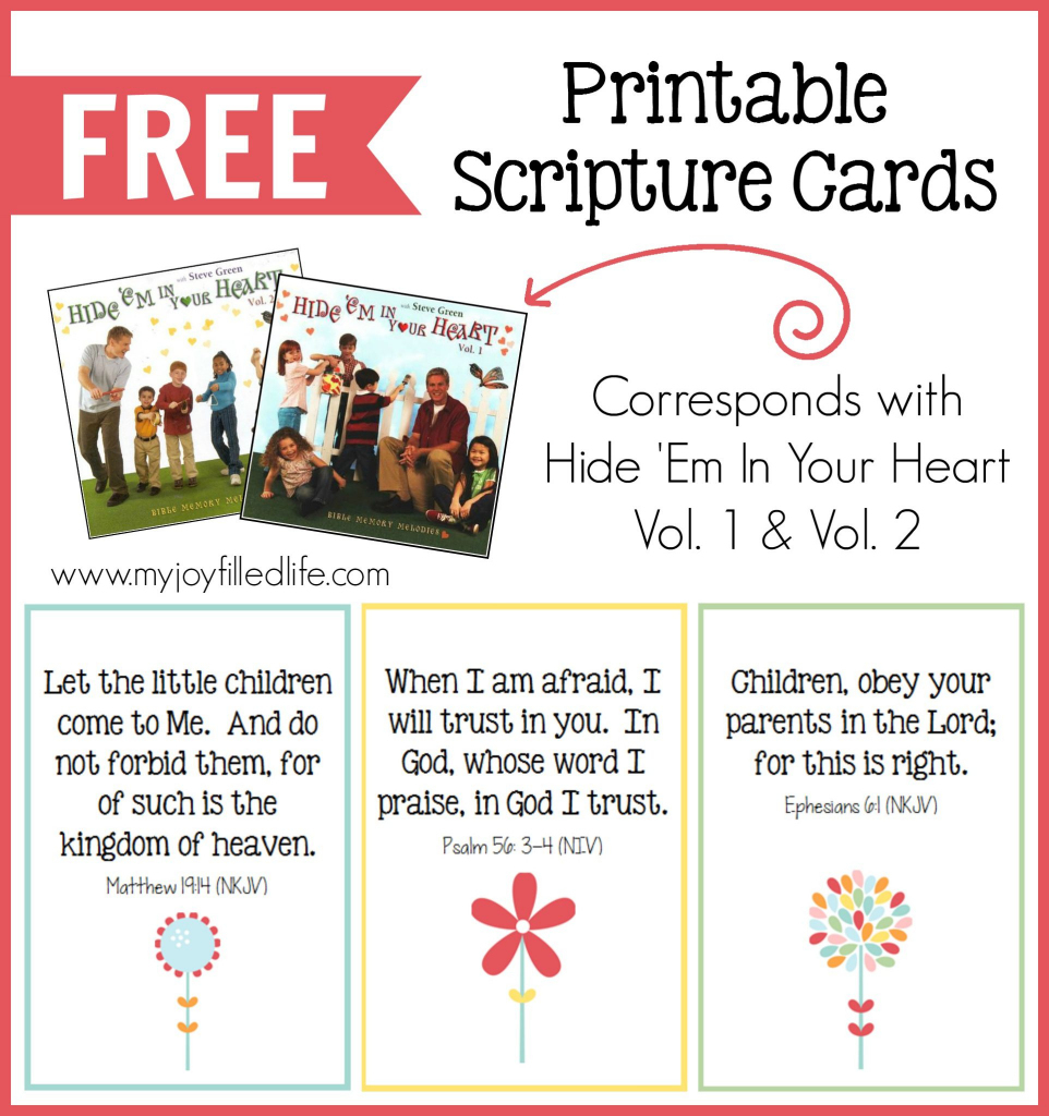 Hide 'em In Your Heart Scripture Cards {Free Printable} - My Joy | Scripture Memory Cards Printable