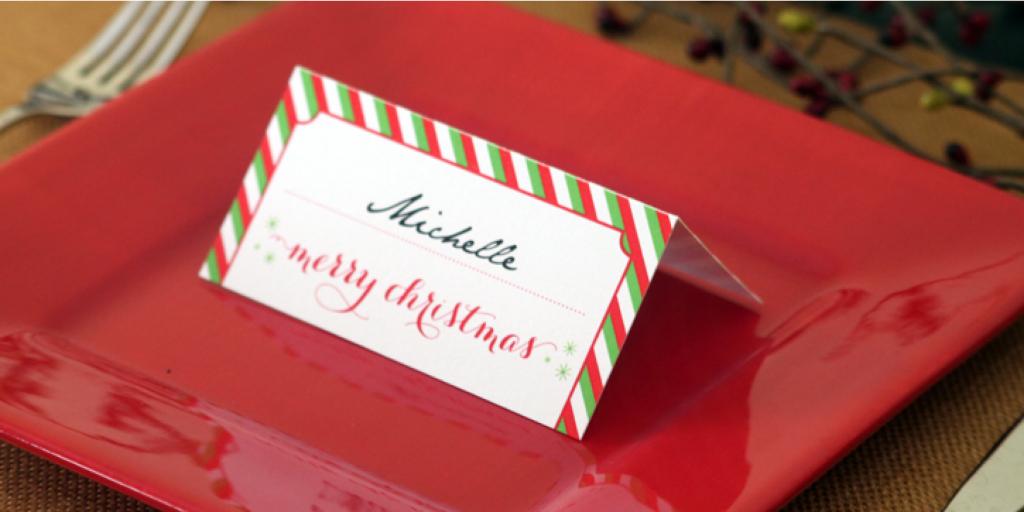 Holiday Place Card Diy Printable   Free Printable Place Card Templates Christmas