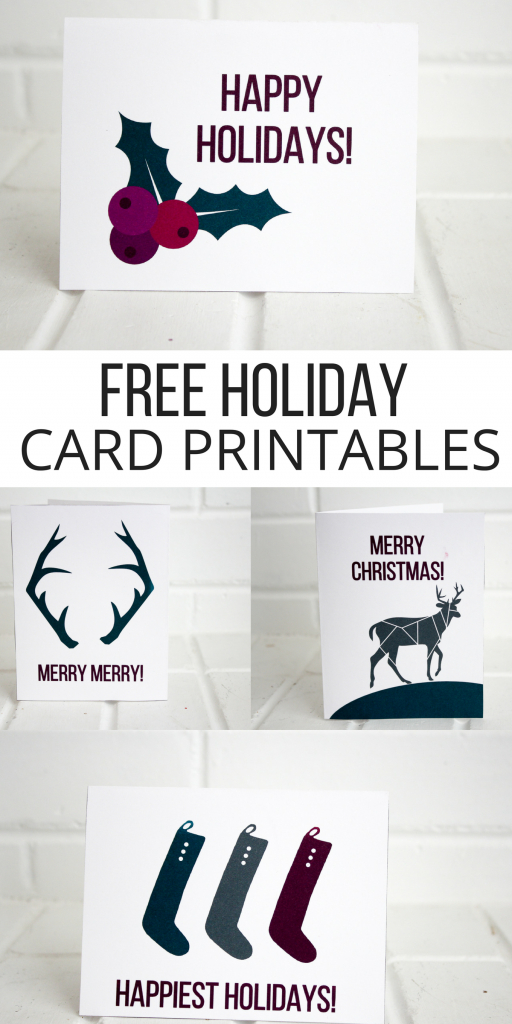Holiday Printable Cards (Free | Pinterest | Holiday Greeting Cards | Make A Holiday Card For Free Printable