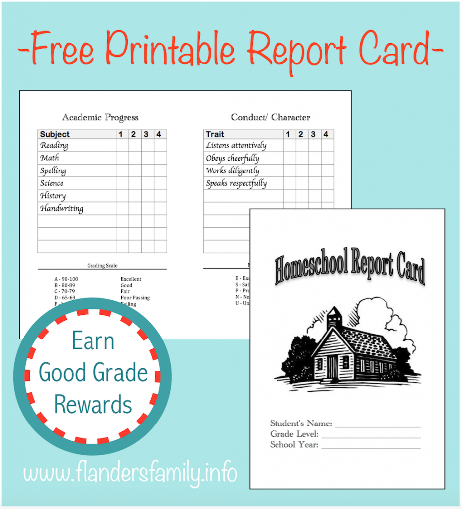 Home School Report Cards - Flanders Family Homelife | Free Printable Report Cards