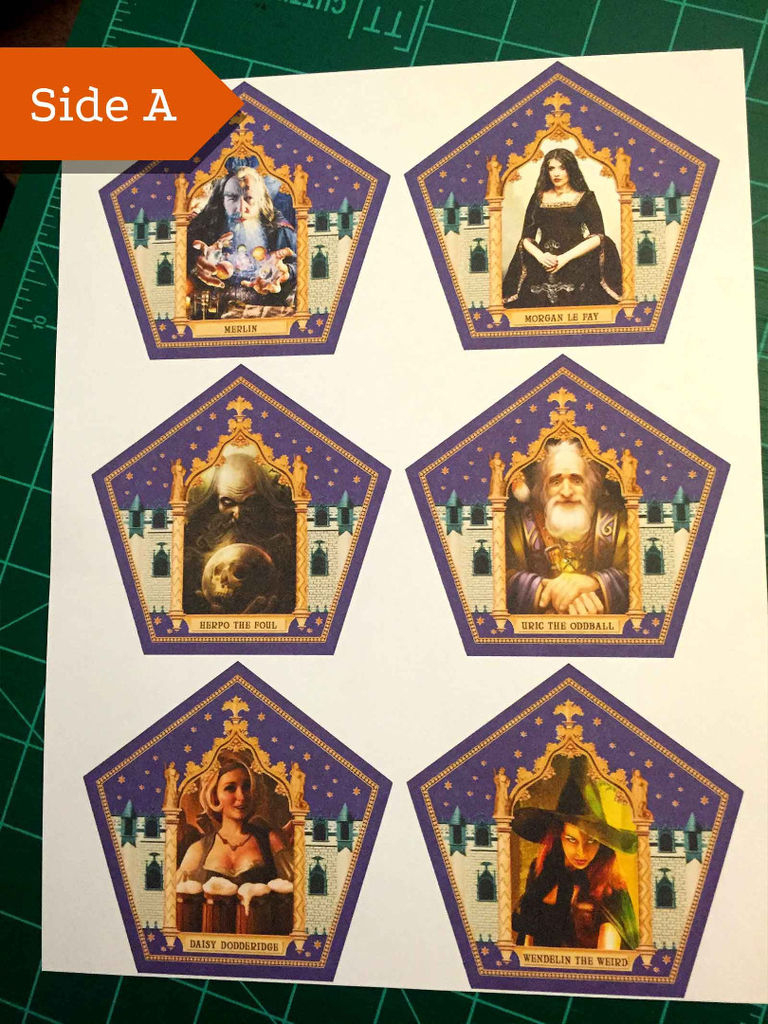 Honeyduke's Chocolate Frog Cards: 3 Steps   Harry Potter Chocolate Frog Cards Printable