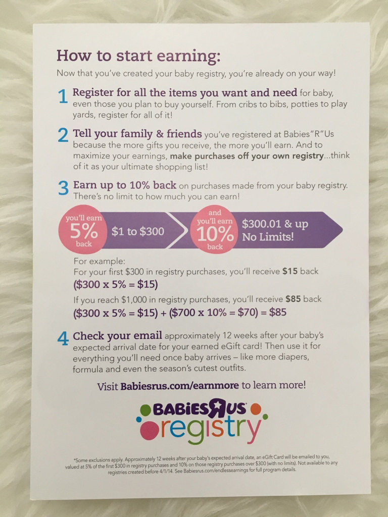 """How To Get The Most From Your Babies """"r"""" Us Registry & Save Up To 25 