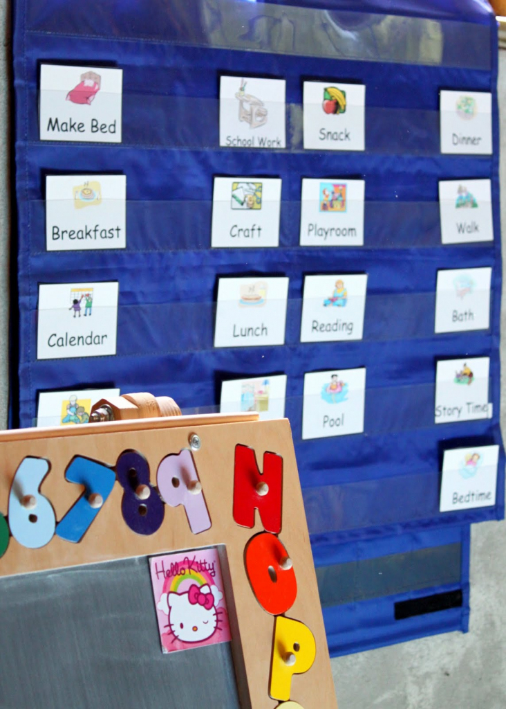How To Schedule A Child's Day With Printable (Free) Cards | Free Printable Schedule Cards For Preschool