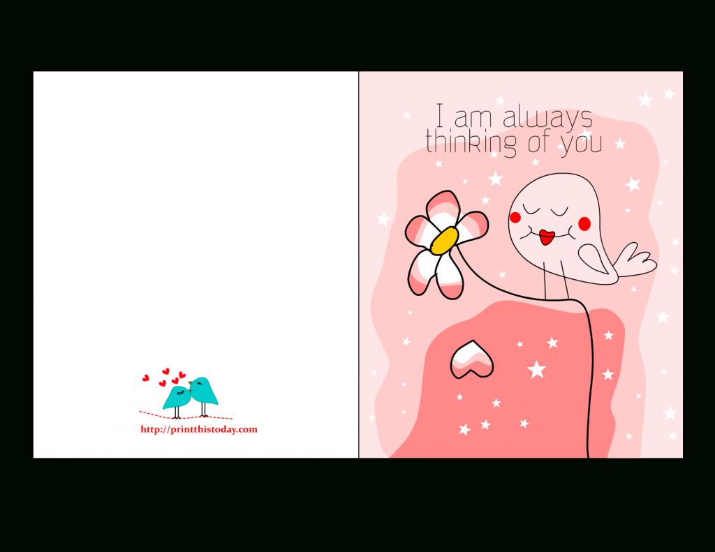 I Am Always Thinking Of You Card,free Printable Love Card For Him | Printable I Love You Cards