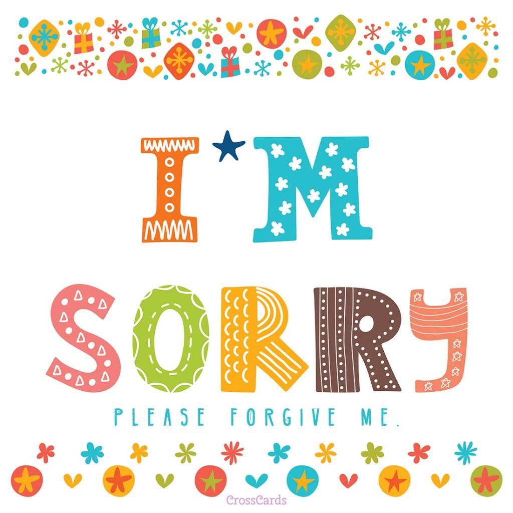 Im Sorry Card - Under.bergdorfbib.co   Free Printable I Am Sorry Cards