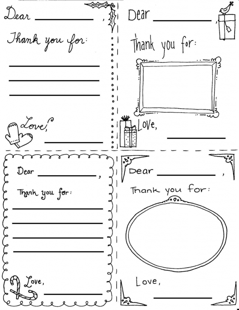 Image Result For Easy Crafts And Free Printables For Xmas Cards For | Printable Thank You Cards For Kids