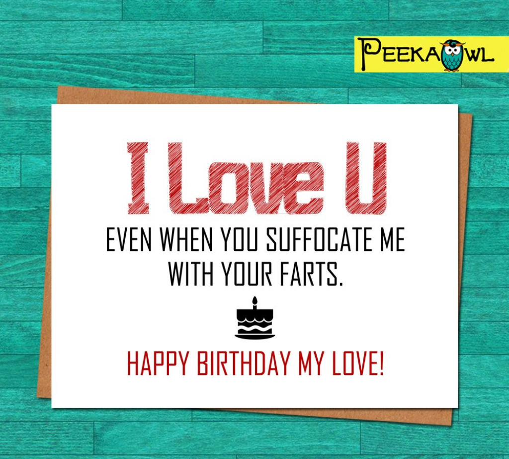 Instant Download Funny Birthday Card Boyfriend Husband | Etsy | Printable Love Birthday Cards For Him
