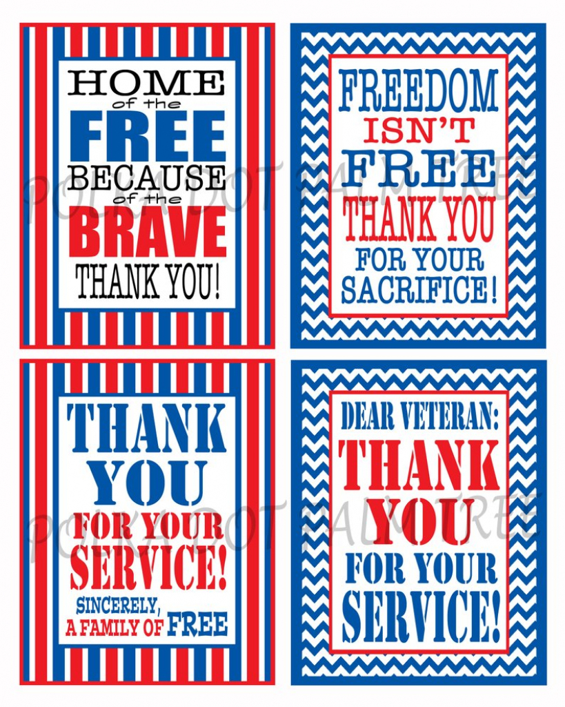 Instant Download Printable Veteran Military Patriotic Thank | Etsy | Military Thank You Cards Free Printable