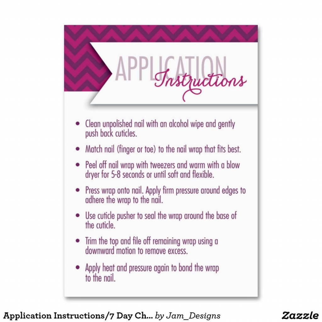 Jamberry Application Instructions Printable - Google Search | Jamberry | Jamberry 7 Day Challenge Cards Printable