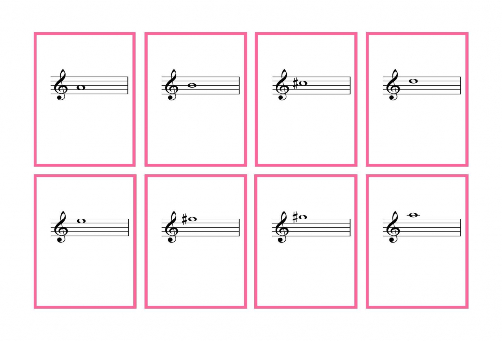 Journal Cards   Complete Set Violin Flash Cards – Printable   Denley   Piano Music Notes Flash Cards Printable