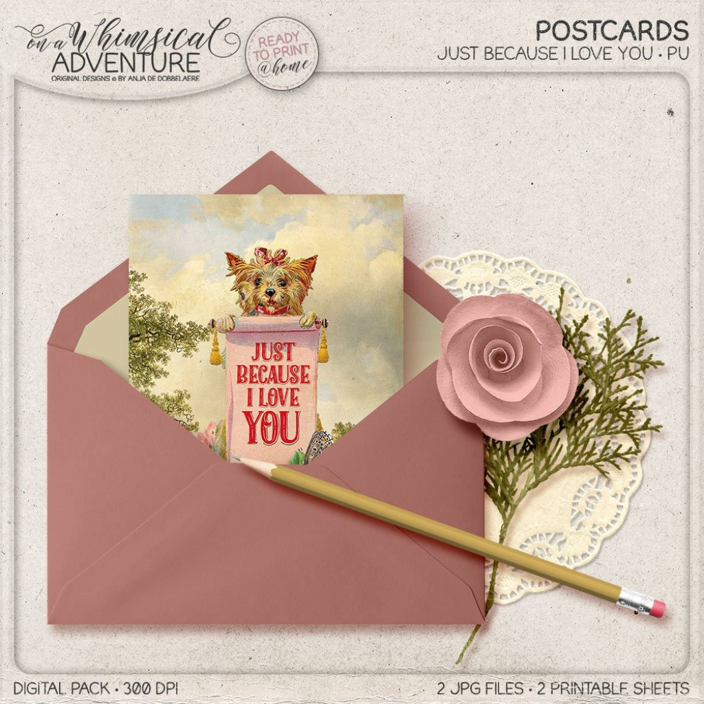 Just Because I Love You Mother's Day Gift For Her | Etsy | Just Because I Love You Cards Printable