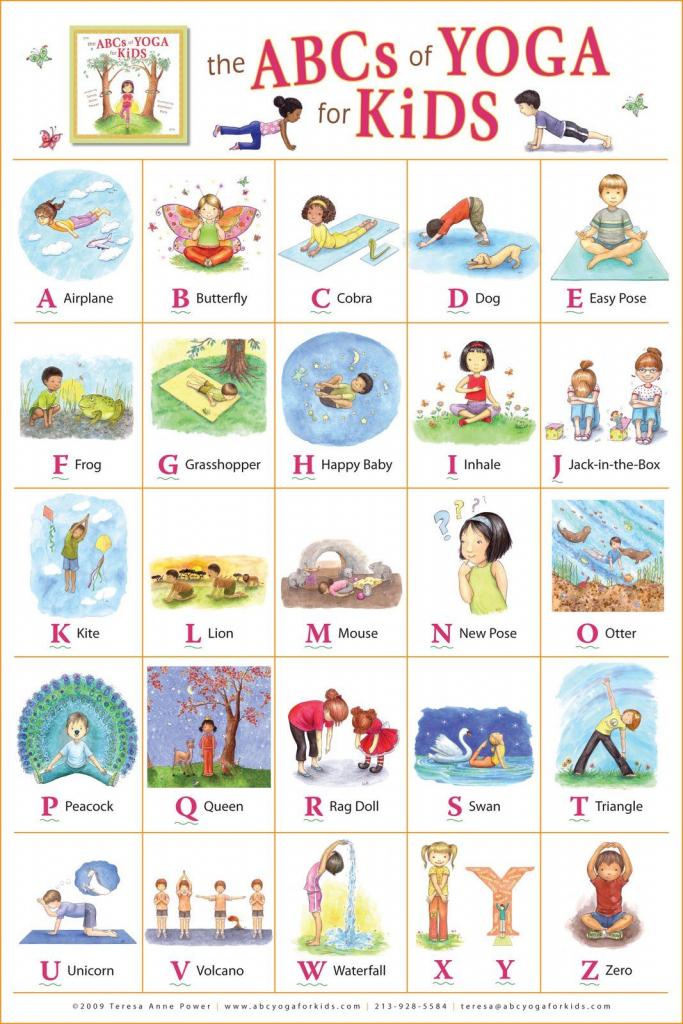 "Kathleen Rietz - Illustration And Design: ""the Abcs Of Yoga For Kids   Abc Yoga Cards Printable"