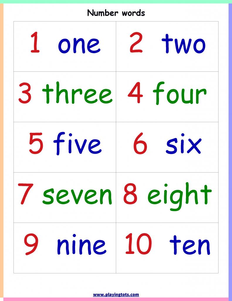 Keywords:number,words,chart,free,printable,learn,toddler,preschool | Printable Number Words Flash Cards