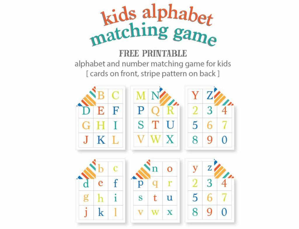 Kids Alphabet Matching Game - Free Printable | Live Craft Eat | Free Printable Matching Cards