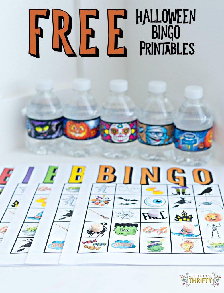 Kids Halloween Party Bingo Cards Free Printable | All Things Thrifty | Printable Hawaiian Bingo Cards