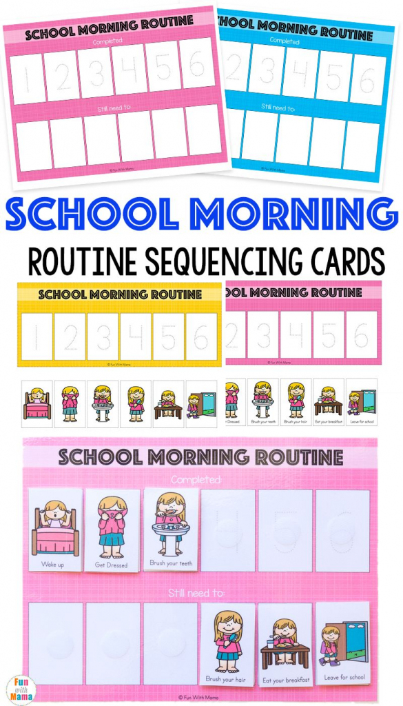 Kids Schedule Morning Routine For School   Fun With Mama Blog Posts   Free Printable Daily Routine Picture Cards