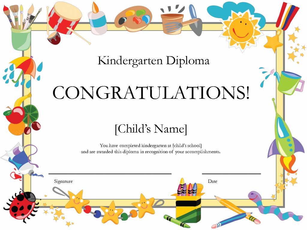Kindergarten Graduation Certificate | Free Printable Kindergarten | Printable Preschool Graduation Card