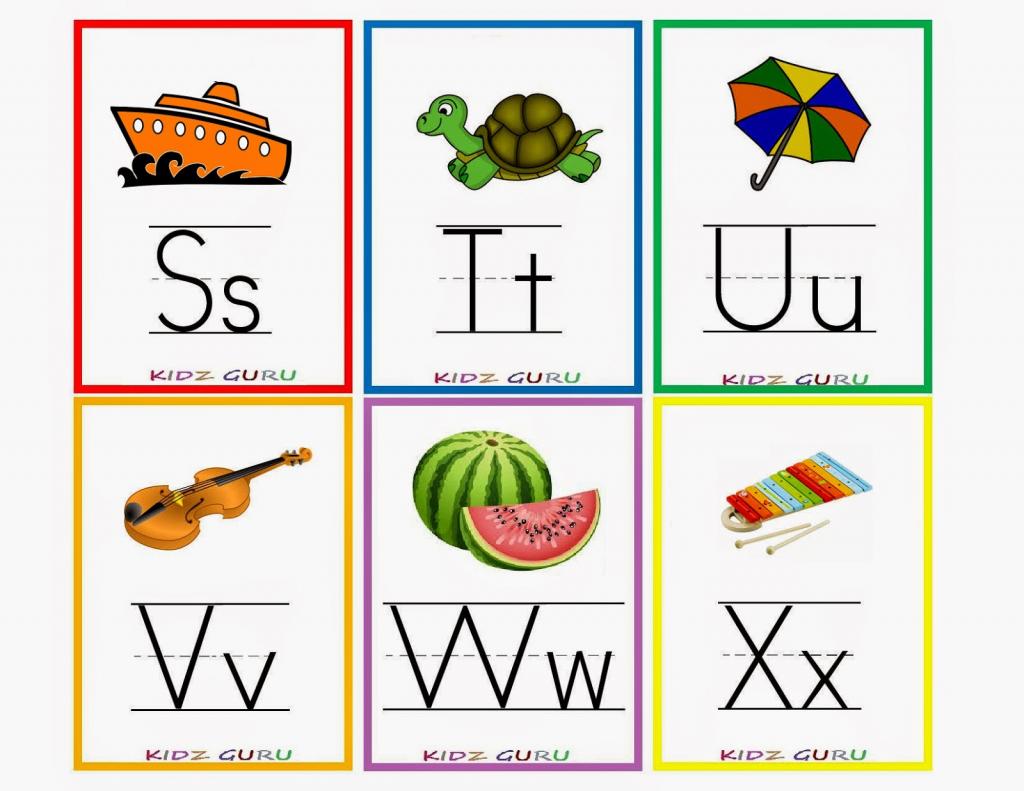 Kindergarten Worksheets: Printable Worksheets - Alphabet Flash Cards 4 | Printable Alphabet Flash Cards