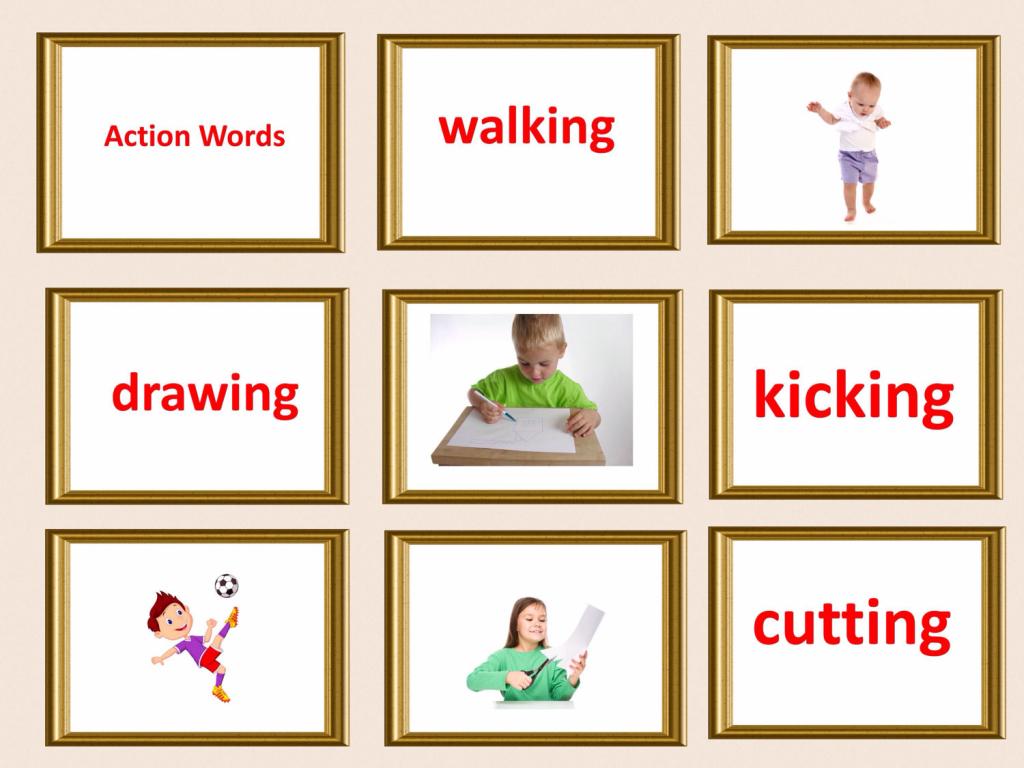 Large Font Printable Flash Cards. Pdf Flashcards. Action Words | Etsy | Glenn Doman Flash Cards Printable
