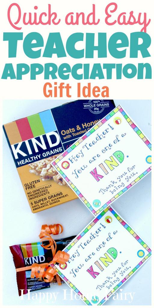 Last-Minute Teacher Appreciation Gift Idea - Free Printable | Printable National Teacher Appreciation Week Cards