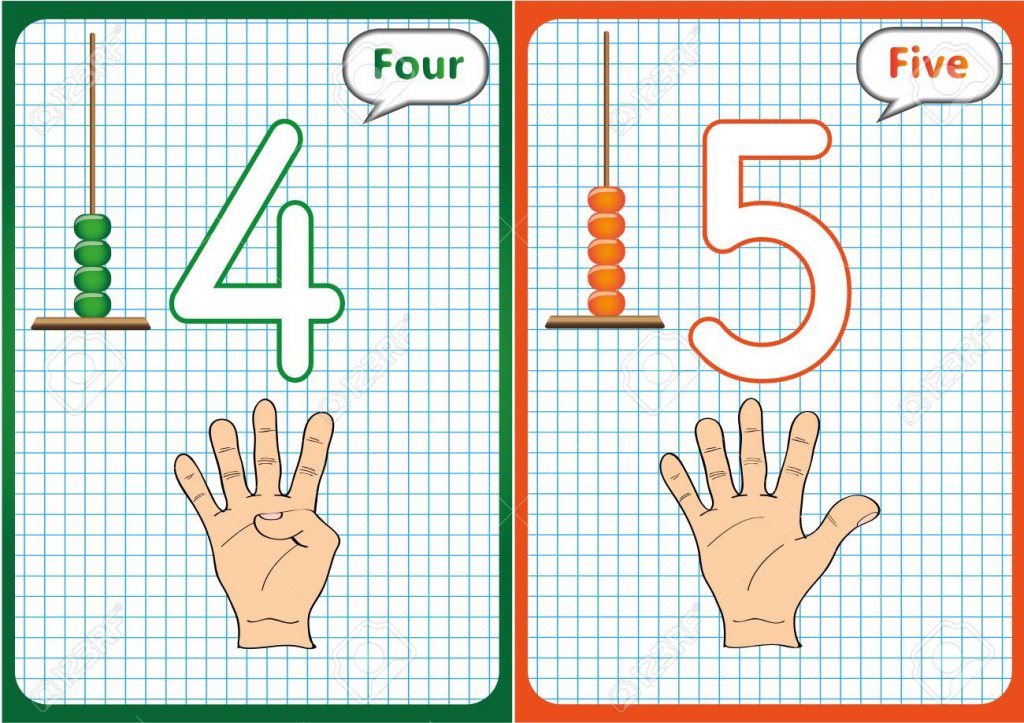 Learning The Numbers 0-10, Flash Cards, Educational Preschool   Printable Abacus Flash Cards