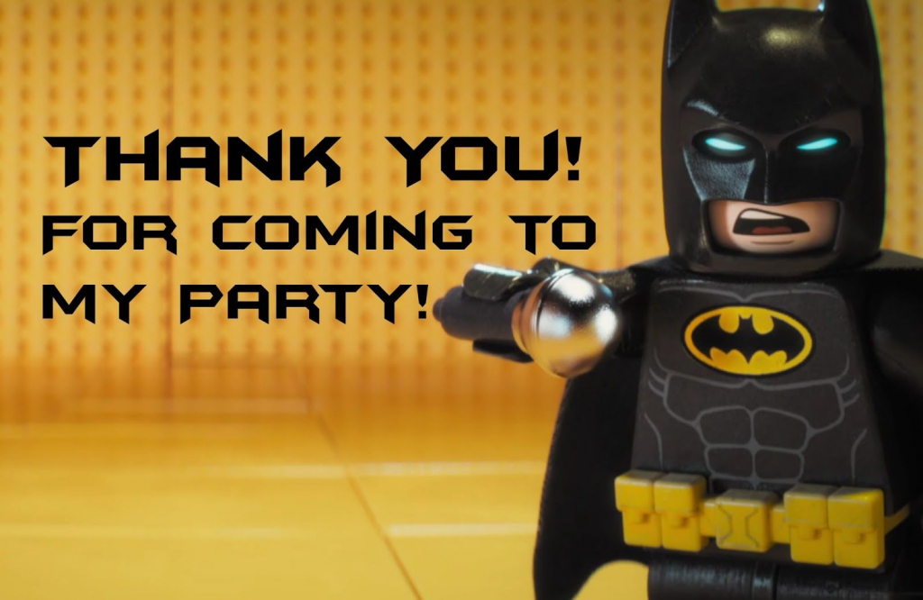 Lego Batman Thank You Cards | Lego Batman-Super Heros Printables | Batman Thank You Cards Printable