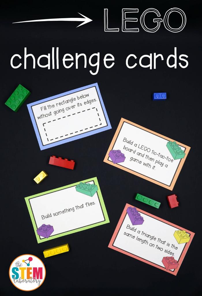 Lego Challenge Cards - The Stem Laboratory | Free Printable Kindergarten Task Cards