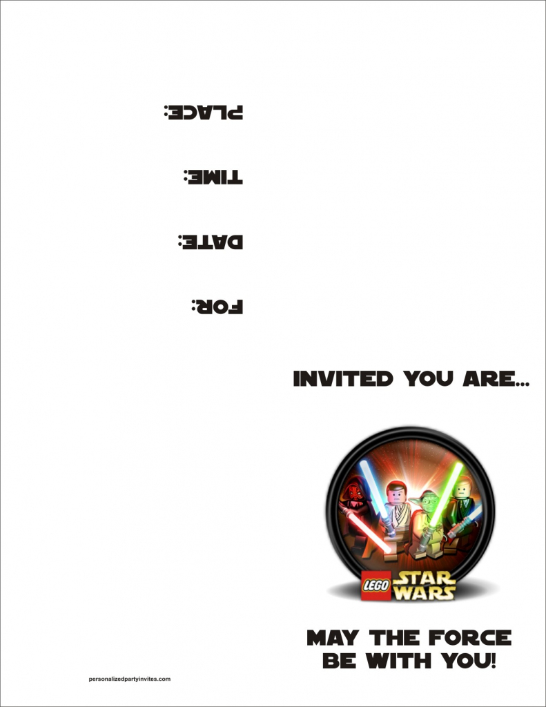 Lego Star Wars Free Printable Birthday Party Invitation Personalized | Star Wars Birthday Card Printable