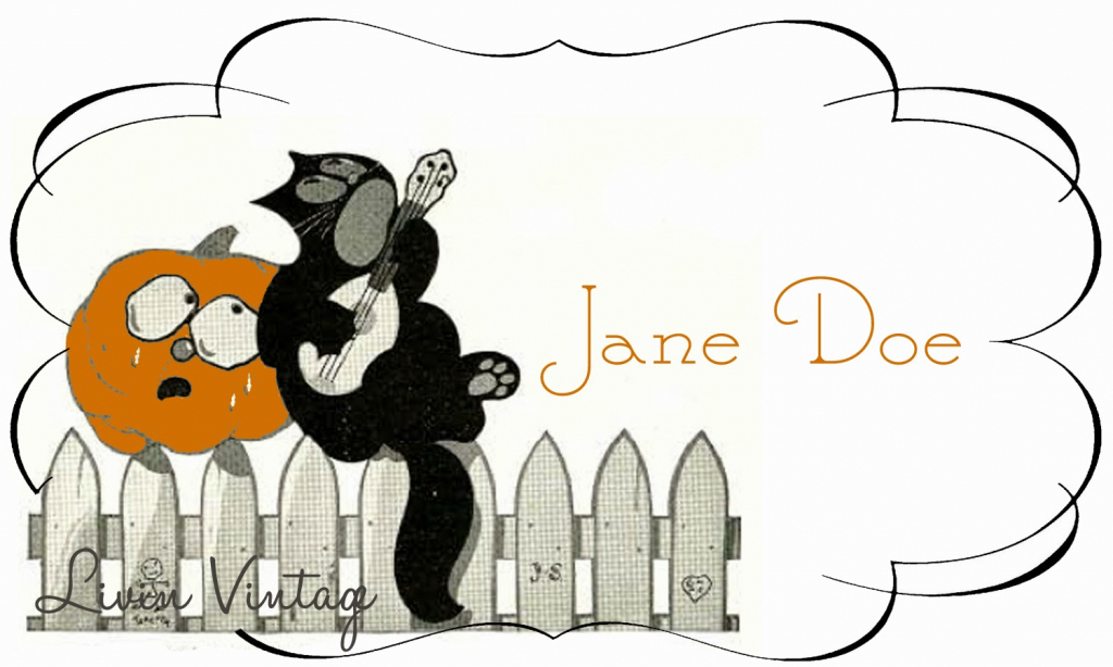 Livin Vintage: Free Vintage Halloween Place Card Printable | Free Printable Halloween Place Cards