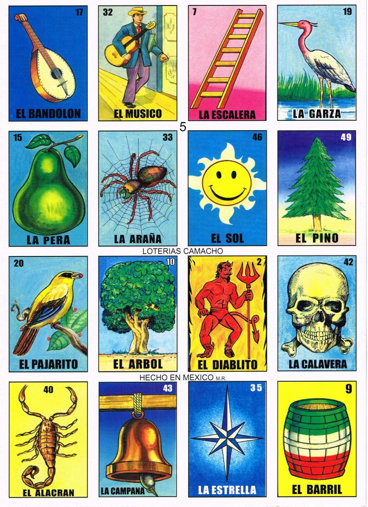 Loteria De Camacho | Scripturient | Printable Loteria Game Cards