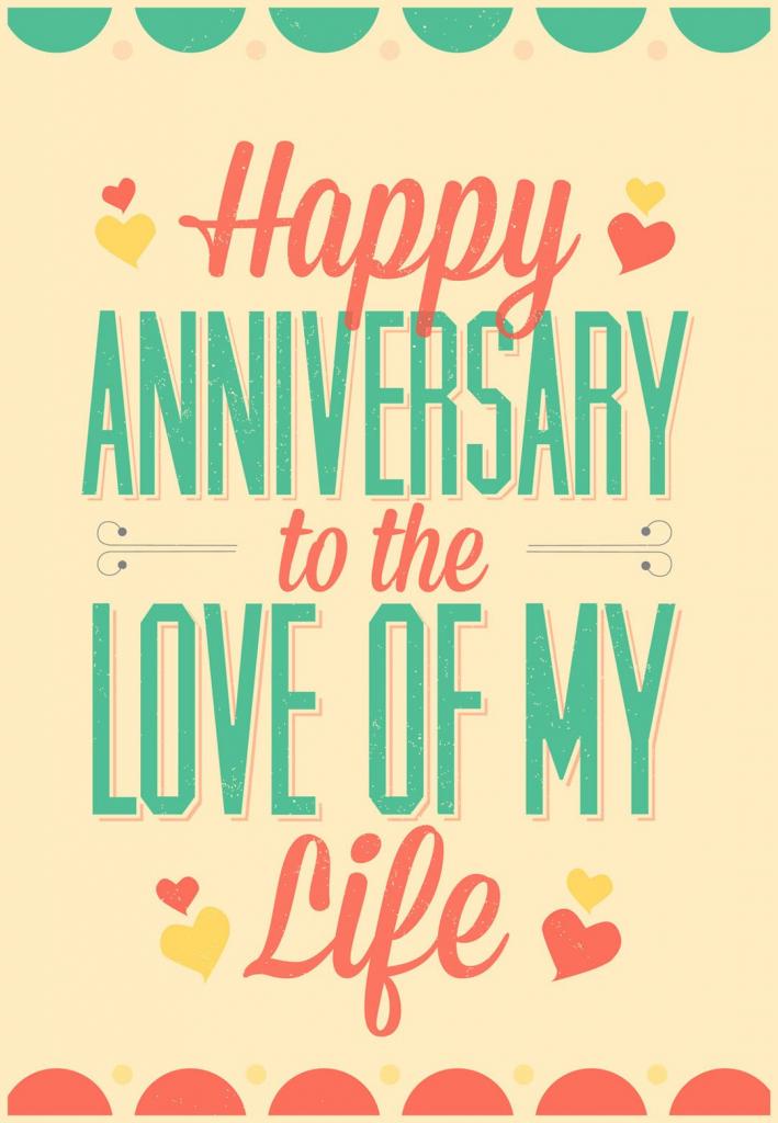Love Of My Life - Free Printable Anniversary Card | Greetings Island | Printable Anniversary Cards For My Wife