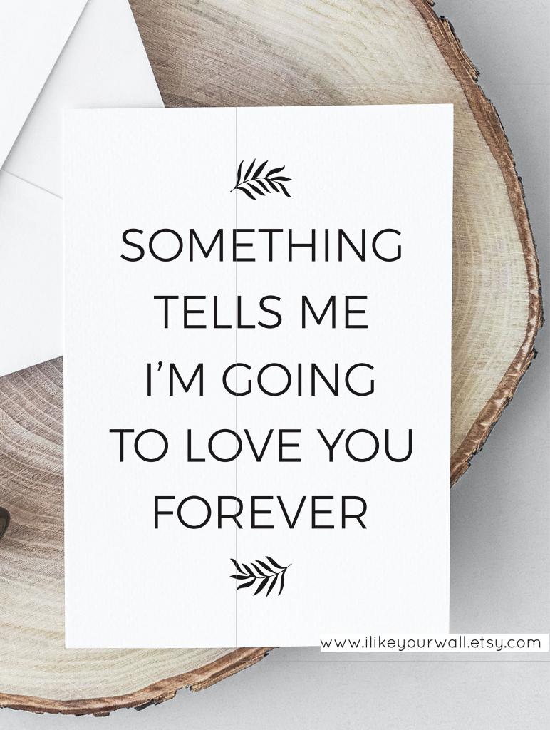 Love Quote Valentine's Day Card, Romantic Card, Love Card For Him | Printable Romantic Cards For Her