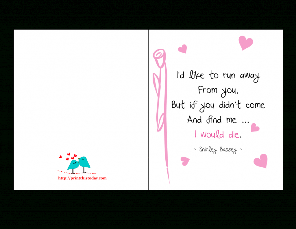 Love Quotes Cards | Printable Love Birthday Cards For Him