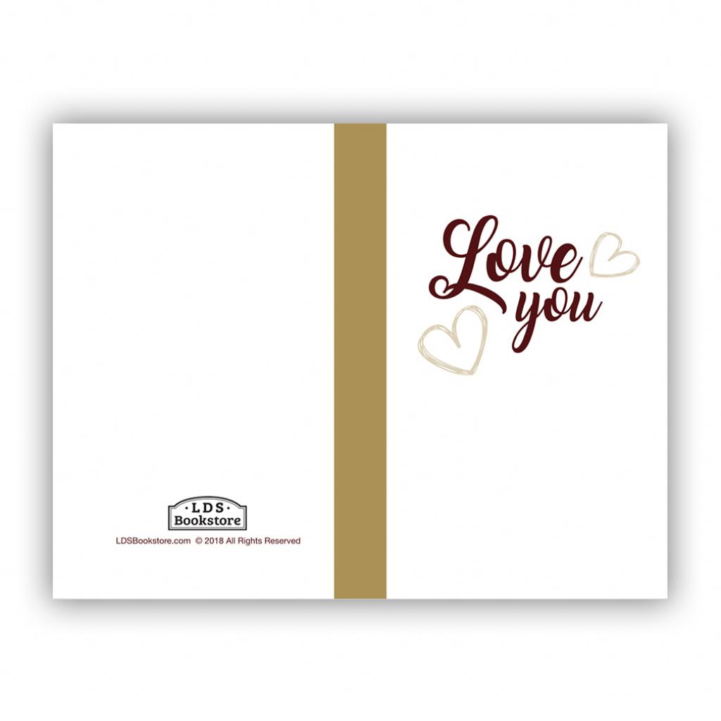 Love You Valentine's Day Card - Printable In Free Lds Printables | Printable I Love You Cards