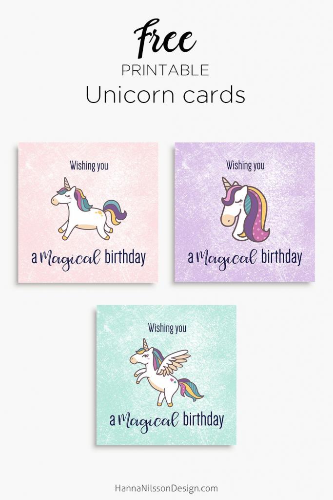 Magical Unicorn Birthday Printable Cards | Tis' Better To Give | 9Th Birthday Cards Printable