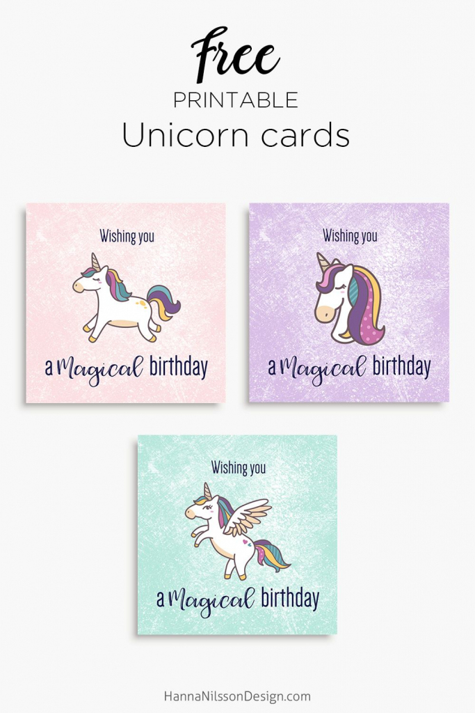 Magical Unicorn Birthday Printable Cards | Tis' Better To Give | Pig Birthday Cards Printable