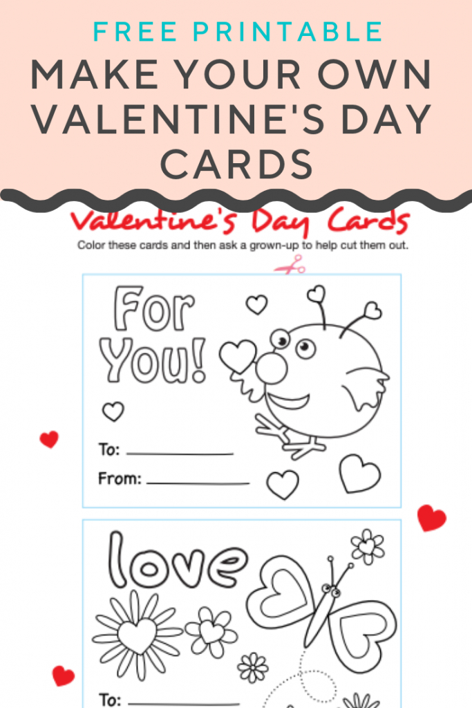 Make Your Own Valentines Cards | Cool Coloring Pages | Valentine's | Make Your Own Printable Valentines Card