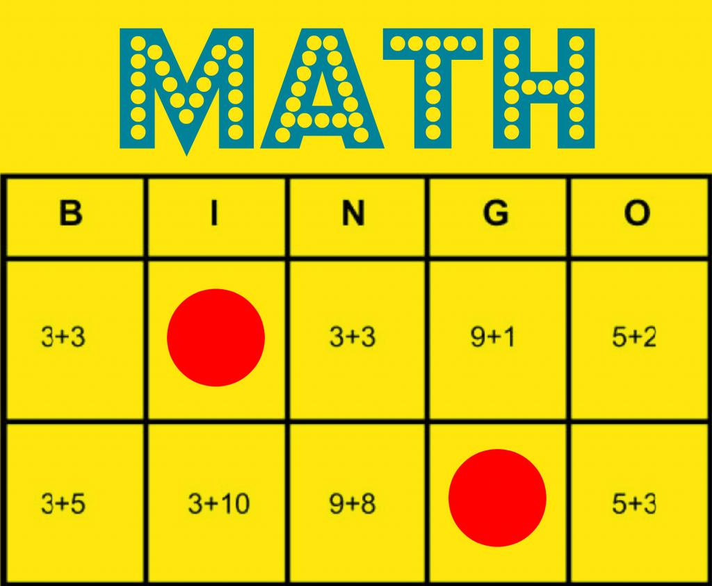Math Bingo: Free Printable Game To Help All Students Learn Math   Printable Addition Bingo Cards