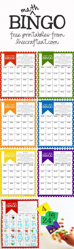 Math Bingo Printable For Kids - Free   Math Activities   Math, Math   Printable Addition Bingo Cards