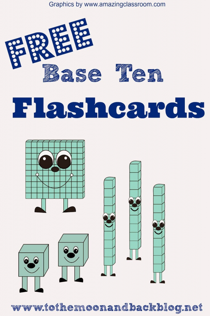 Math Freebies: Printable Base Ten Math Practice Flash Cards   3Rd   Base Ten Picture Cards Printable