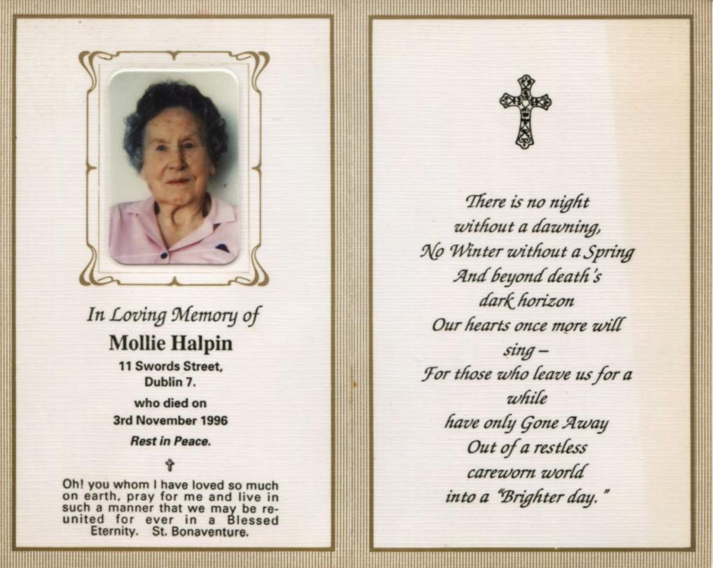 Memorial Card Quotes - Under.bergdorfbib.co   Free Printable Funeral Prayer Card Template