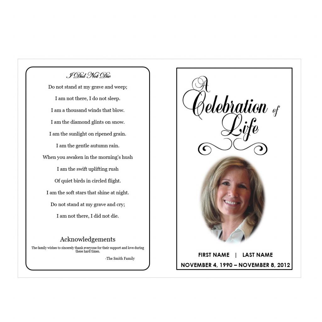 Memorial Templates Microsoft Word - Kleo.bergdorfbib.co   Free Printable Funeral Prayer Card Template