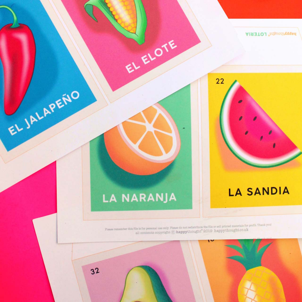 Mexican Lotería Cards: Make Your Own Stunning Lotería Inspired Crafts! | Mexican Loteria Cards Printable