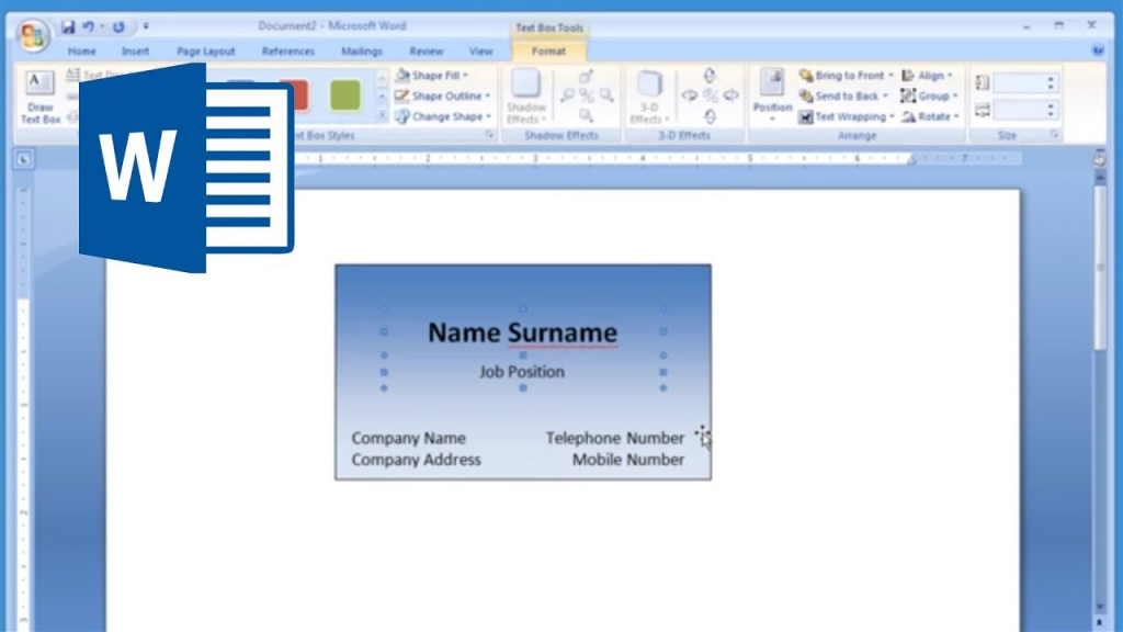 Microsoft Word - How To Make And Print Business Card 1/2 - Youtube | Online Business Card Maker Free Printable