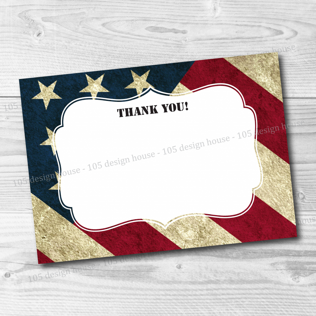 Military Thank You Card Printable Instant Download Military | Etsy | Military Thank You Cards Printable