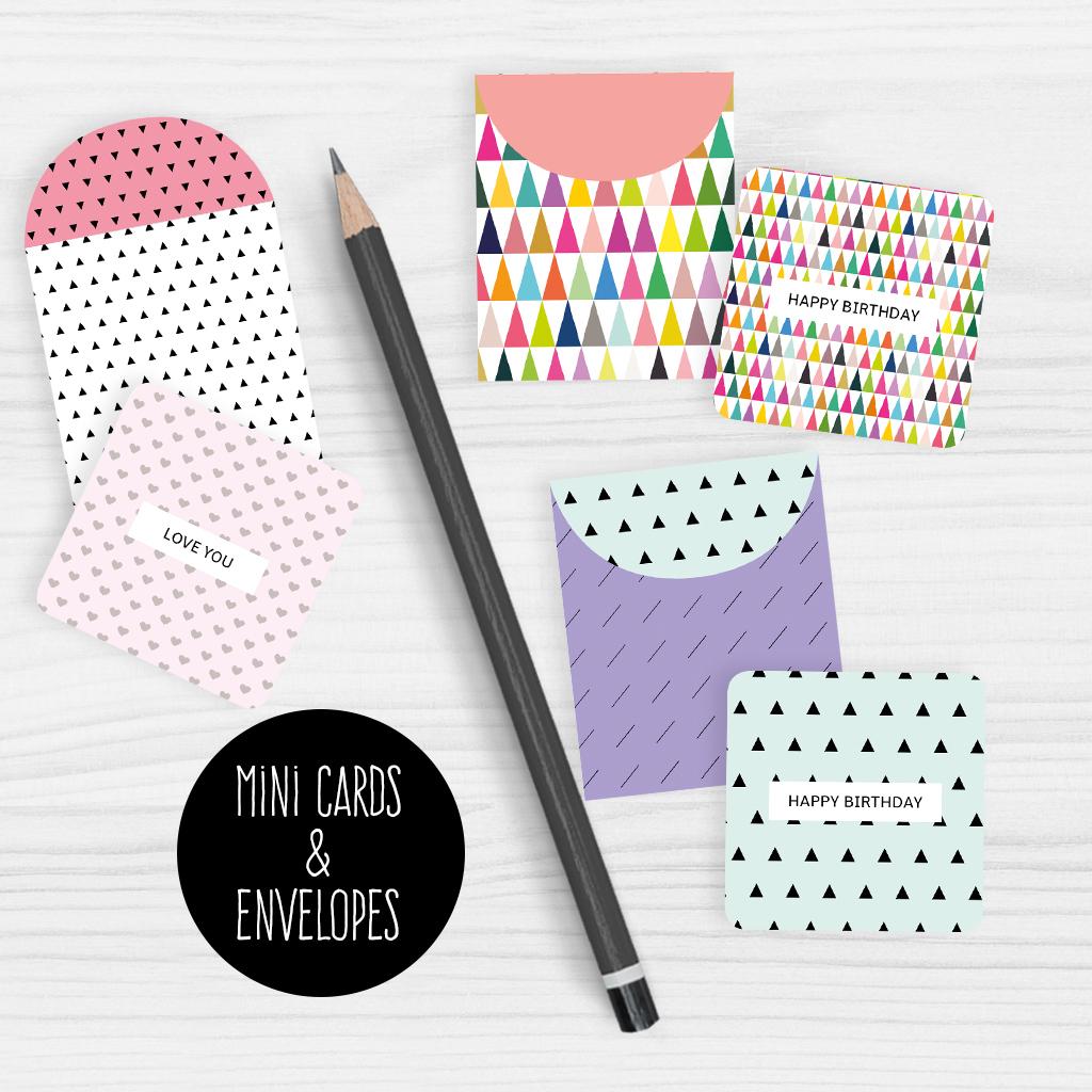 Mini Note Cards And Envelopes Set Of 9 Mini Cards - Free Printable | Free Printable Note Cards
