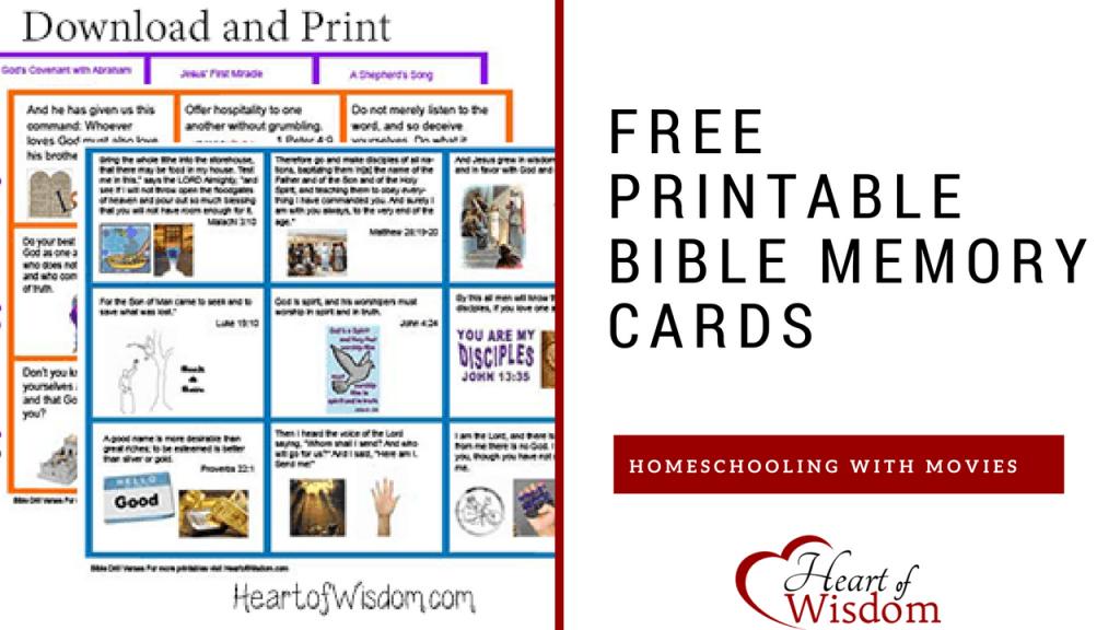 More Printable Bible Verse Memory Cards – Heart Of Wisdom | Scripture Memory Cards Printable
