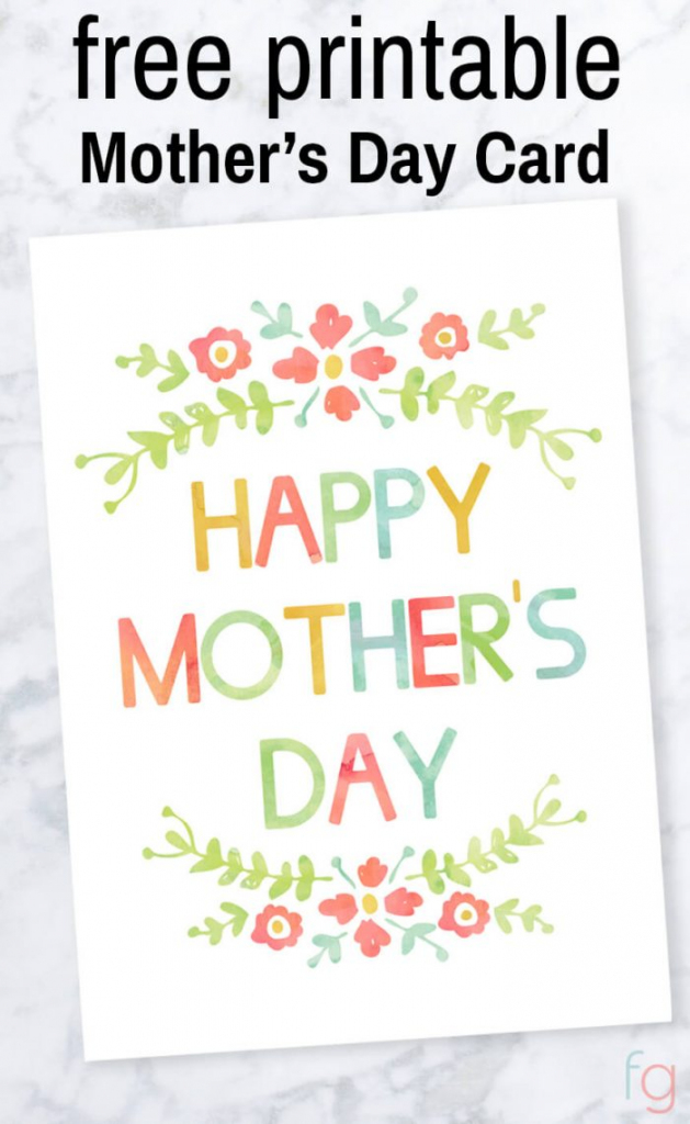 Mother's Day Card - Free Printable   Free Printable Mothers Day Card From Dog