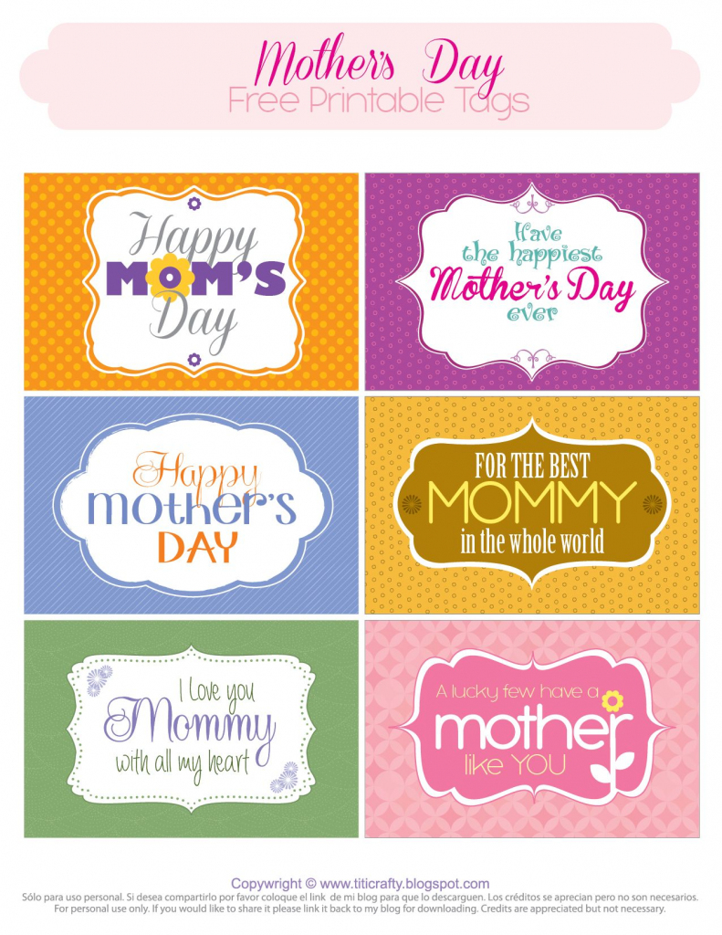 Mother's Day Free Printable Tags | *{Tcn} Freebies | Mom Day | Free Printable Mothers Day Cards No Download