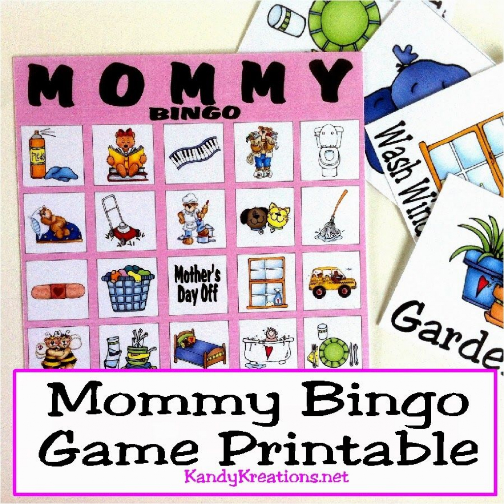 Mothers Day Mommy Bingo Game Printable   Free Printables From   Printable Mothers Day Bingo Cards